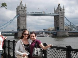 Kiri and I at Tower Bridge