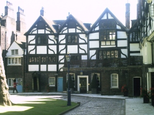 The Queen's House, so called because Henry VIII had it built for Anne Boleyn upon their marriage...and thoughtfully imprisoned her there later prior to her execution.  Delightful man, Henry.