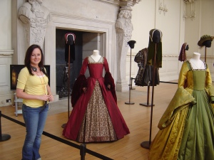 A costume exhibit from The Other Boleyn Girl at Hampton