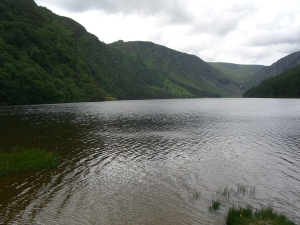 One of the two lakes at Glendalough