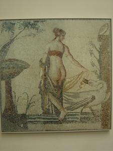 A lovely mosaic of Leda and the Swan