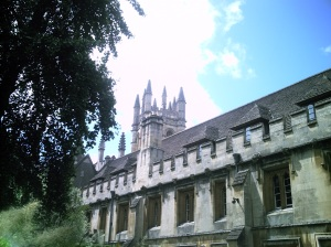 The Tower at Magdalen, seen from the cloister