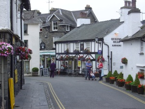 Hawkshead, a typical village in the Lakes District, of Beatrix Potter fame