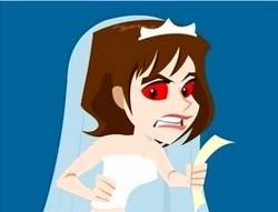 Caring too much about ridiculous stuff can produce the above effect.  Avoid!  No one wants to marry Bridezilla.