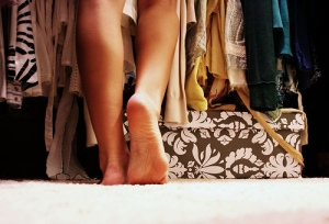 A closet full of nothing to wear..