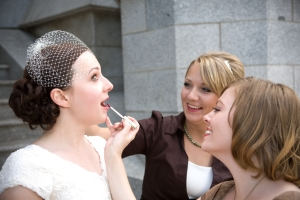 ...while C. gets fixed by Venice and Peregrine (AKA, 2/4 the greatest bridesmaid team ever)!