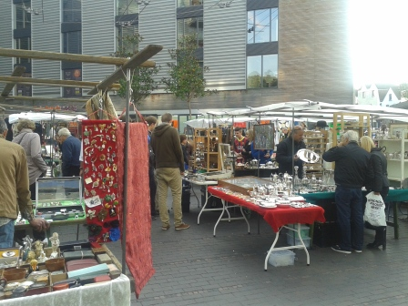 Snapshot of Bermondsey Market this morning.