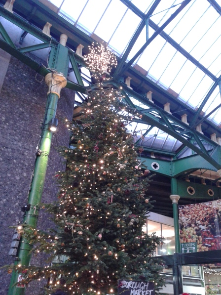 Borough Market's arboreal offering with a gorgeous topper.