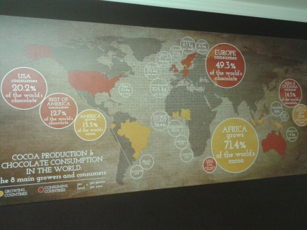 Chocolate consumption around the globe, which is pretty interesting!