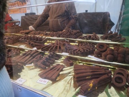 Nuts, bolts, scissors, pipes, wirecutters, irons...all made of chocolate! Easily the most impressive stall.