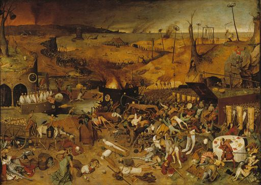 """The Triumph of Death"" by Peter Brueghel the Elder - a contemporary depiction of the ravages of plague and the social consequences that followed."