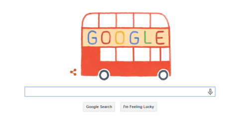 In one of those charming twists of fate, this was the google doodle on the day my in-laws flew in, celebrating the 60th anniversary of the buses.